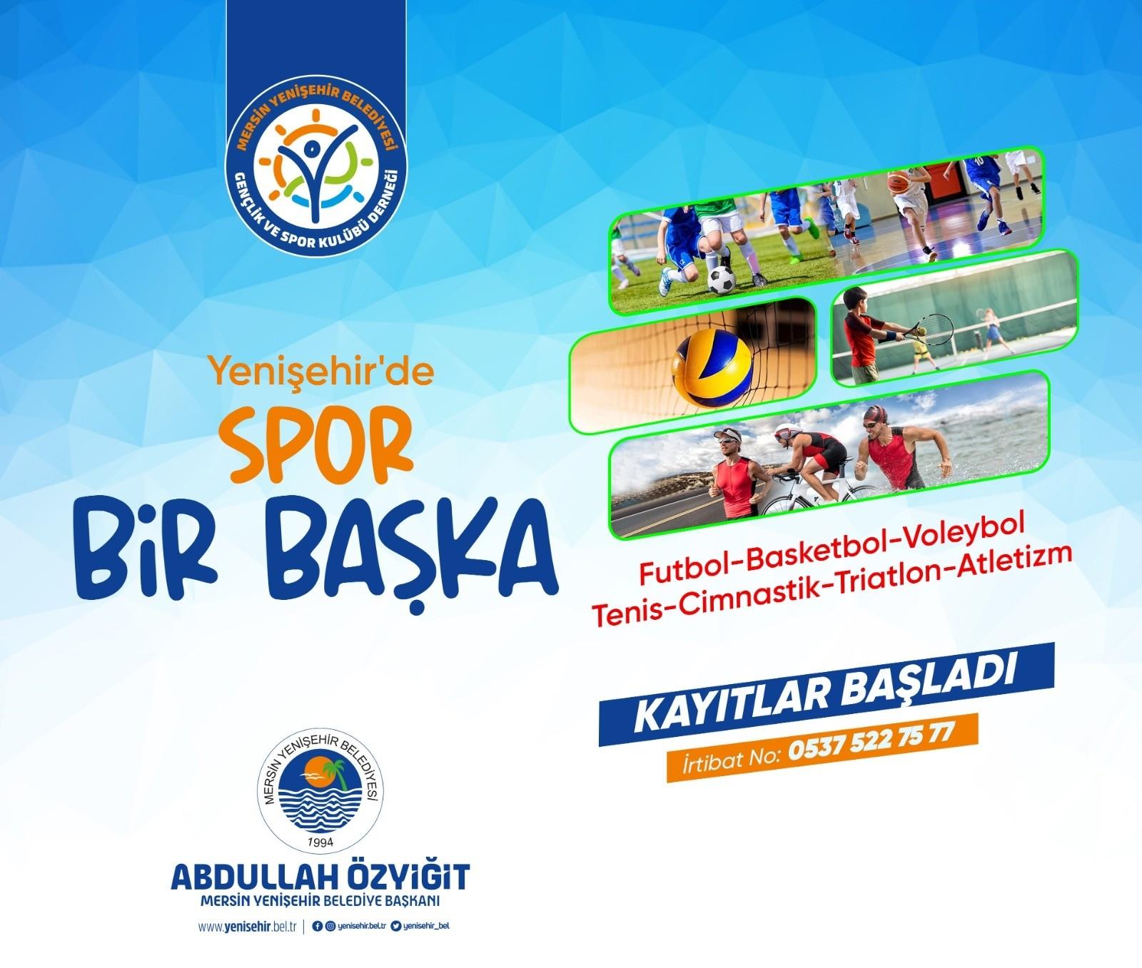 yenisehir belediyesinin spor kurslarina kayitlar devam ediyor
